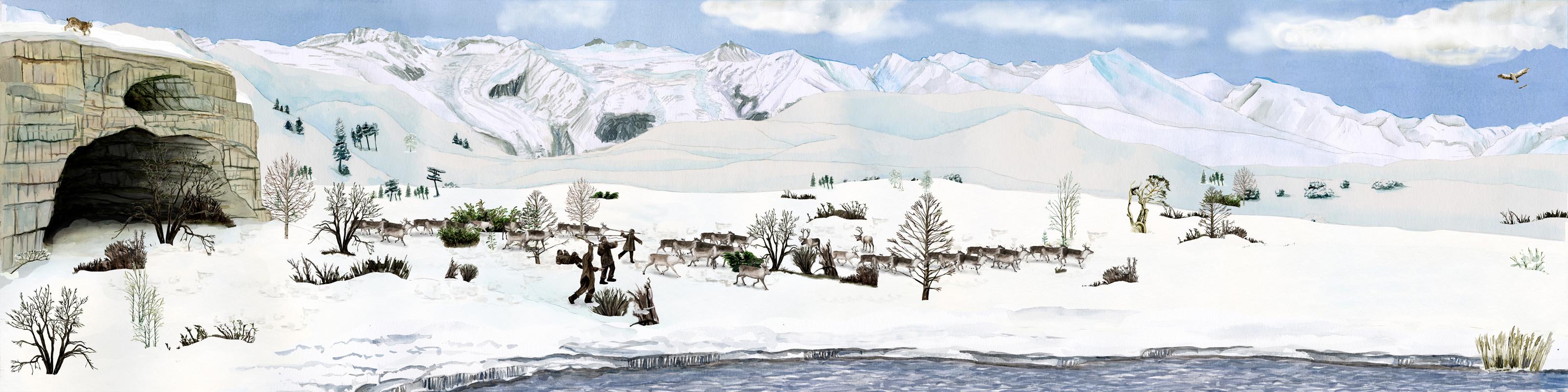 Paläolithikum moderner Mensch, stone age