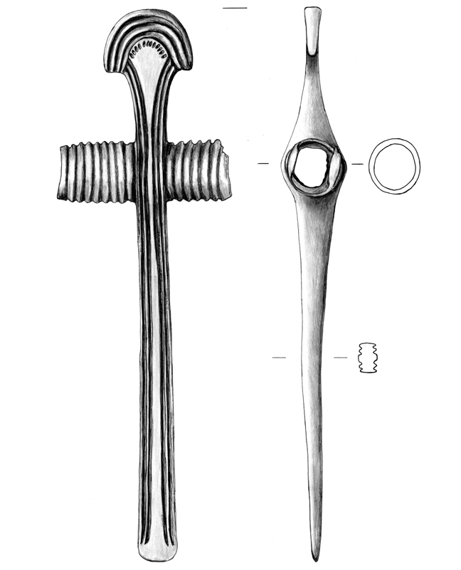 Bronze Kultbeil, bronze cult hatchet, archäologische Zeichnung, archaeological illustration