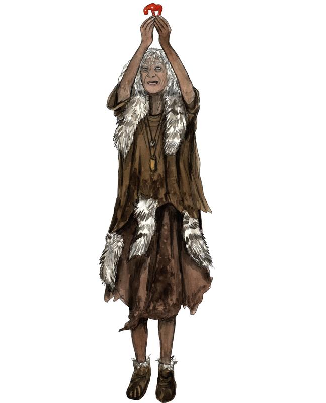Paläolithikum, Bernsteinpferdchen, moderner Mensch, Amber little horse, stone age