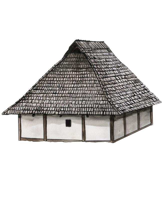 Eisenzeit Haus, Iron Age house