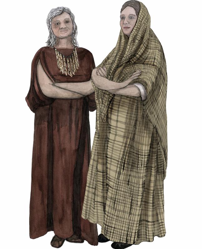 Bronzezeit, zwei Frauen, Bronze Age, two woman