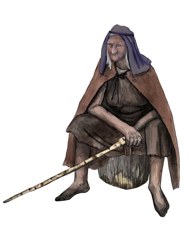 Bronzezeit, alte Frau, Bronze Age, old woman