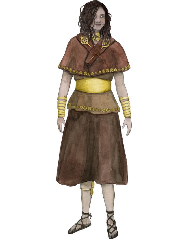 Bronzezeit, Frau mit Schmuck, Bronze Age, woman with jewellery