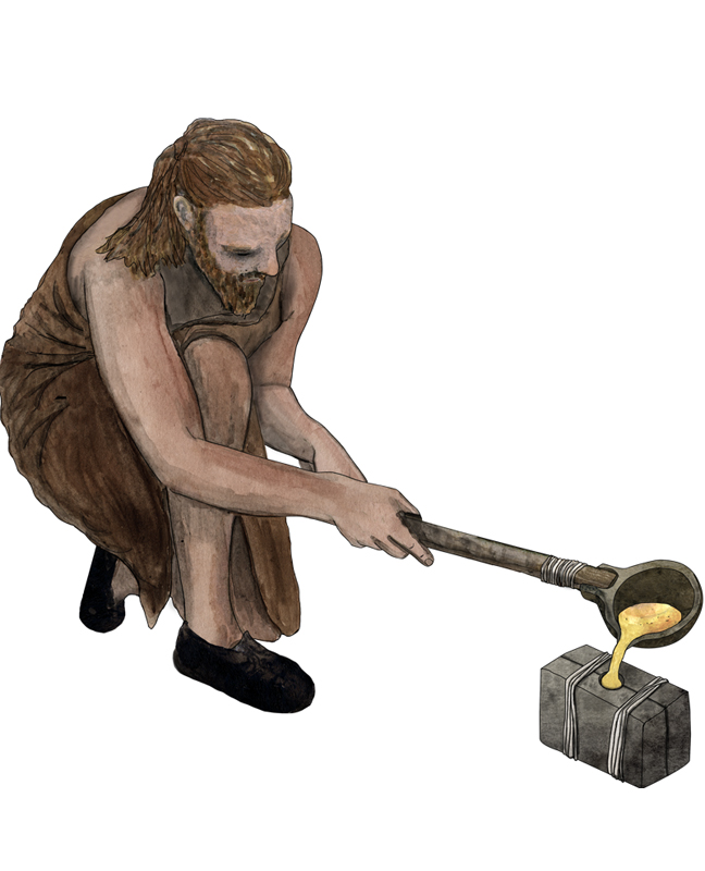 Bronzezeit, Bronzeguss, Bronze Age, bronze production