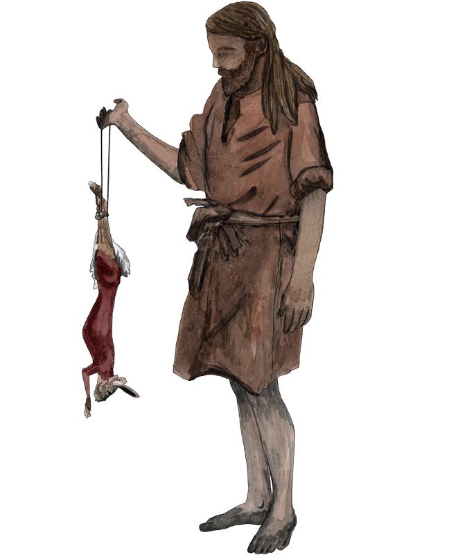 Bronzezeit, Mann mit Hase, Bronze Age, Man with hare