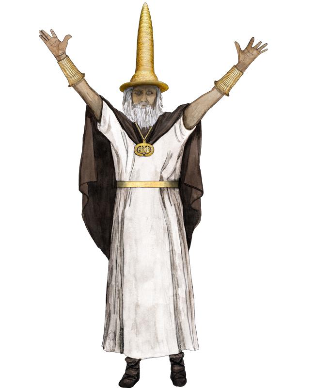 Bronzezeit, Priester, Goldhut, Bronze Age, priest, golden hat