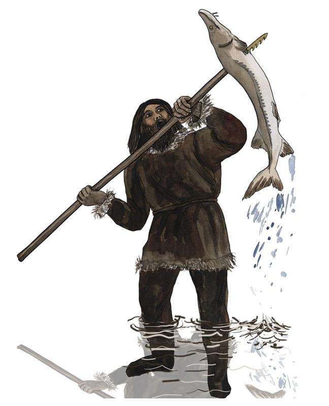 Mesolithikum, Fischer, mesolithic age, fisherman