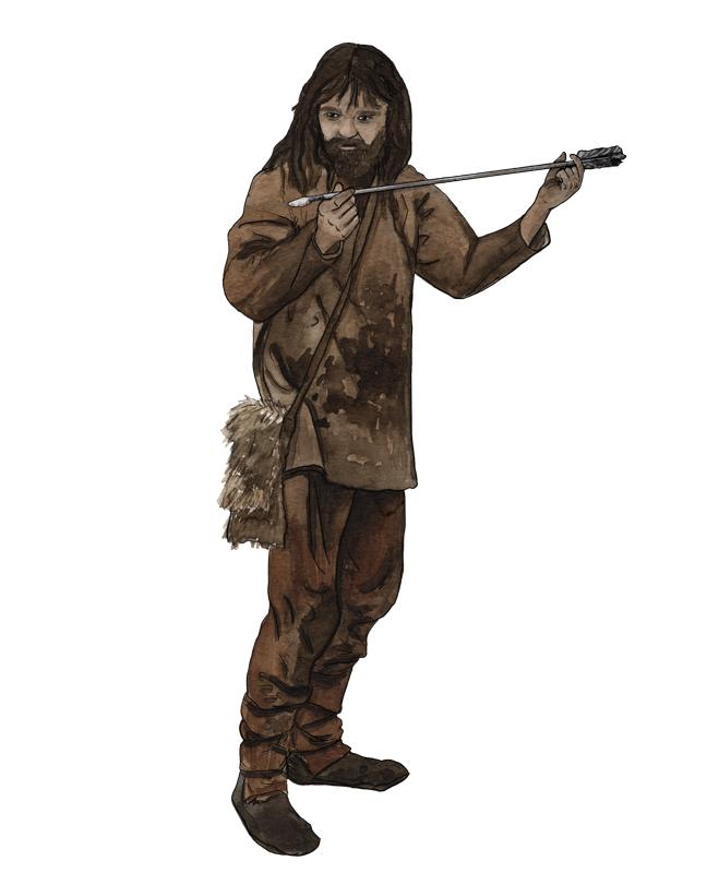 Mesolithikum, Mann mit Pfeil, mesolithic age, Man with arrow
