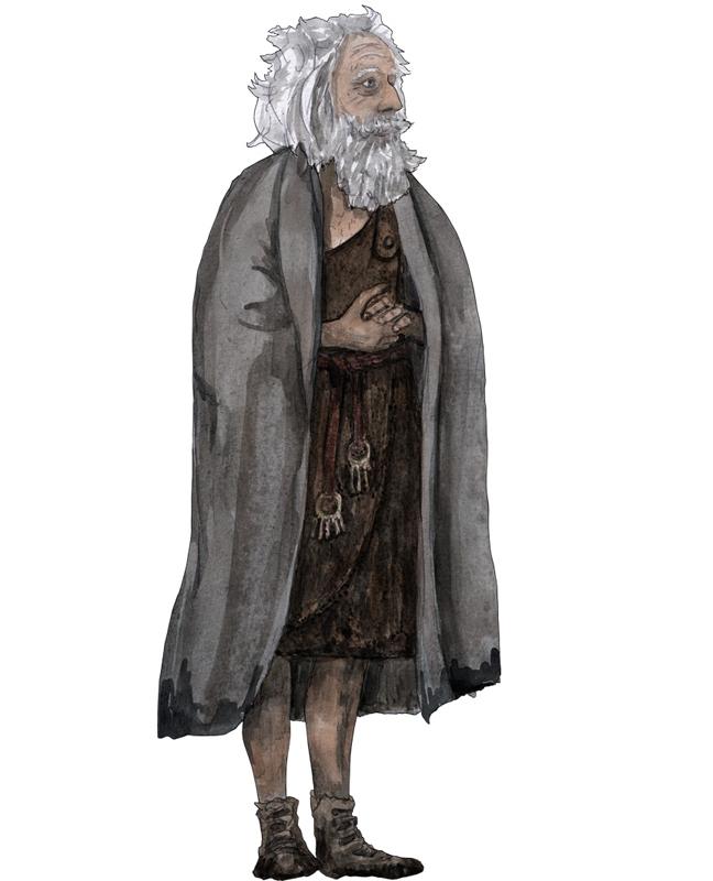 Bronzezeit, alter Mann, Bronze Age, old man
