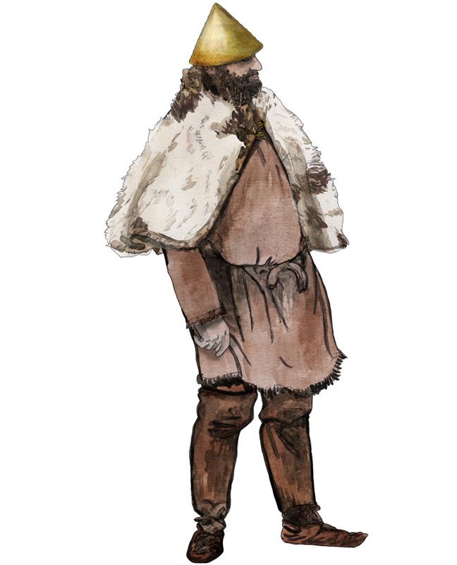 Eisenzeit einfacher Mann, Iron Age simple man