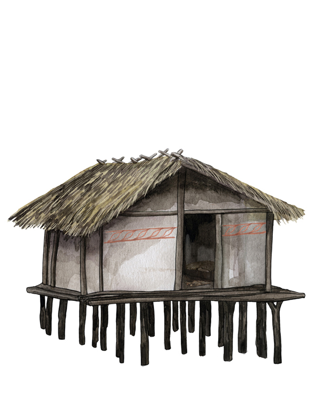Neolithikum Pfahlbau, Neolithic period building on stilts