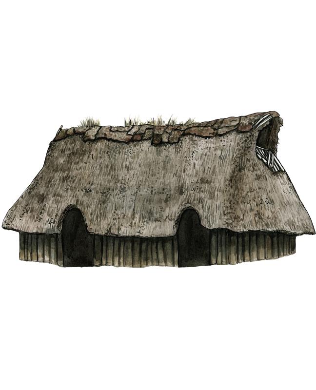 Bronzezeit Haus, Bronze Age house